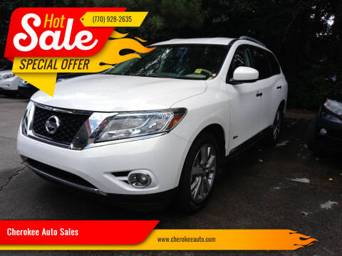 2014 Nissan Pathfinder Hybrid for sale at Cherokee Auto Sales in Acworth GA