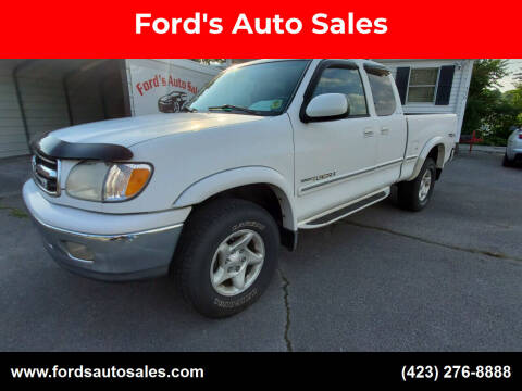 2000 Toyota Tundra for sale at Ford's Auto Sales in Kingsport TN
