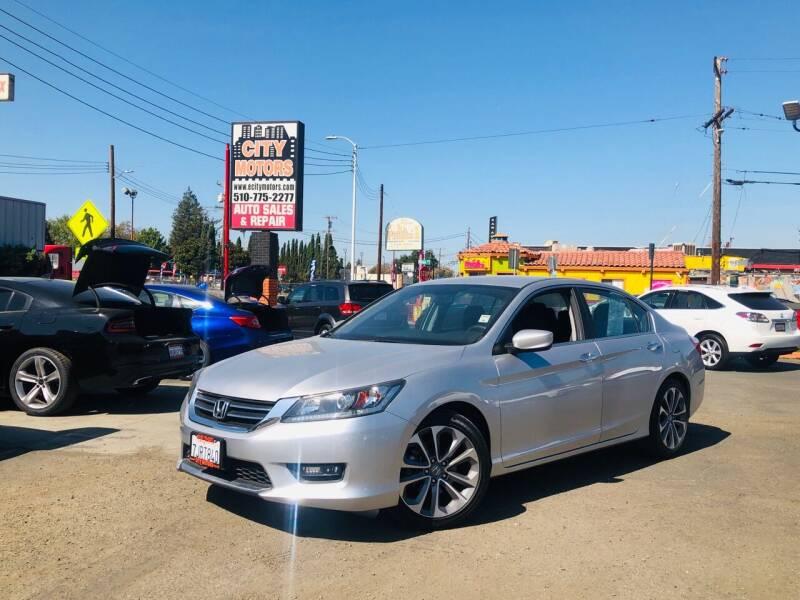 2013 Honda Accord for sale at City Motors in Hayward CA