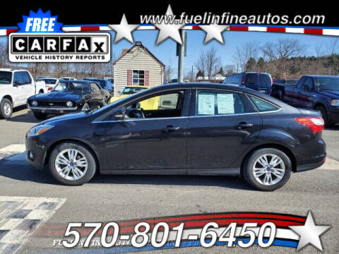 2012 Ford Focus for sale at FUELIN FINE AUTO SALES INC in Saylorsburg PA