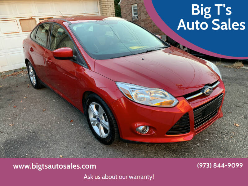 2012 Ford Focus for sale at Big T's Auto Sales in Belleville NJ