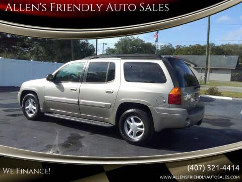 2002 GMC Envoy XL for sale at Allen's Friendly Auto Sales in Sanford FL