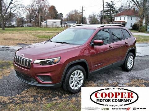2021 Jeep Cherokee for sale at Cooper Motor Company in Clinton SC