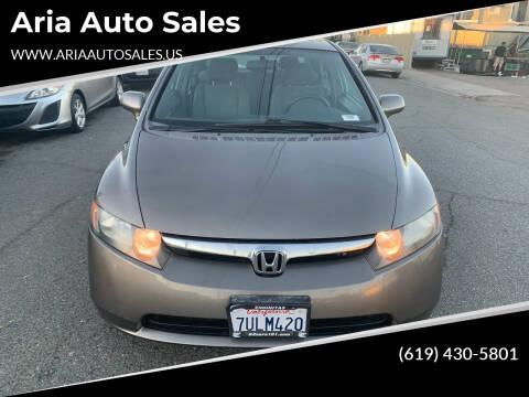2008 Honda Civic for sale at Aria Auto Sales in El Cajon CA