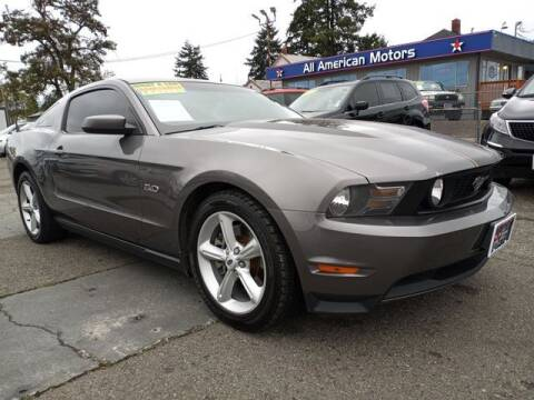 2011 Ford Mustang for sale at All American Motors in Tacoma WA