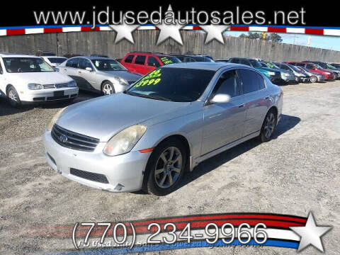 2006 Infiniti G35 for sale at J D USED AUTO SALES INC in Doraville GA