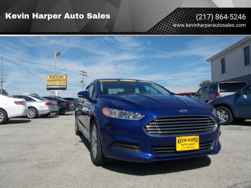 2014 Ford Fusion for sale at Kevin Harper Auto Sales in Mount Zion IL
