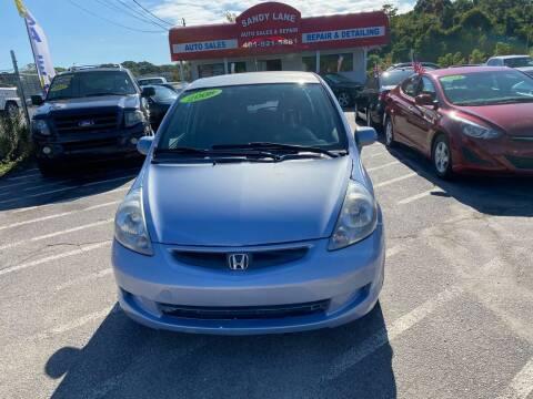 2008 Honda Fit for sale at Sandy Lane Auto Sales and Repair in Warwick RI