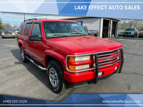 1999 Chevrolet Tahoe for sale at Lake Effect Auto Sales in Chardon OH