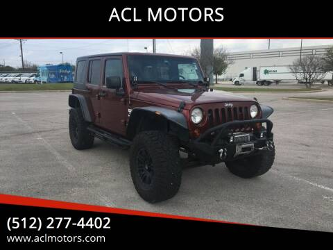 2010 Jeep Wrangler Unlimited for sale at ACL MOTORS in Austin TX