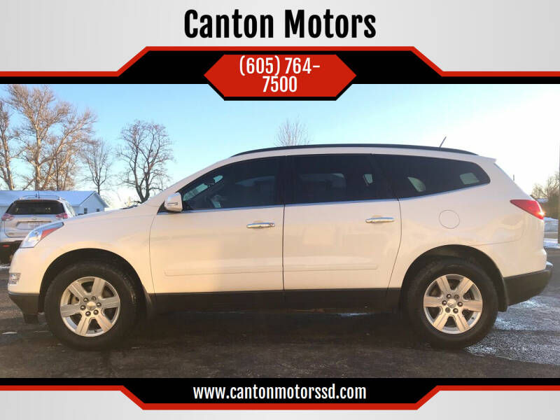 2012 Chevrolet Traverse for sale at Canton Motors in Canton SD