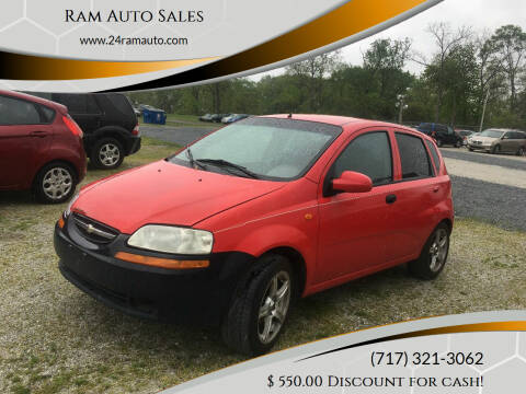 2004 Chevrolet Aveo for sale at Ram Auto Sales in Gettysburg PA