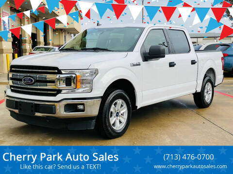 2019 Ford F-150 for sale at Cherry Park Auto Sales in Houston TX