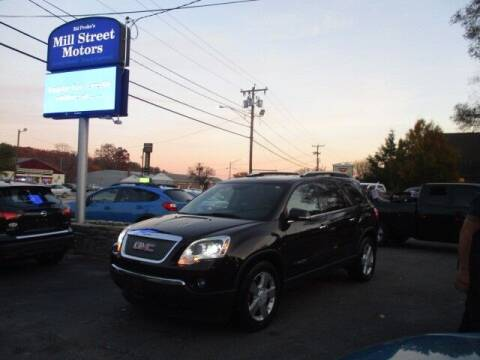 2008 GMC Acadia for sale at Mill Street Motors in Worcester MA
