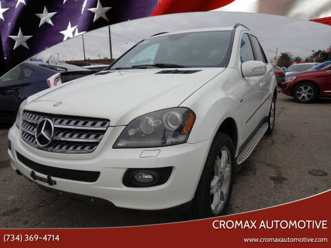 2008 Mercedes-Benz M-Class for sale at Cromax Automotive in Ann Arbor MI