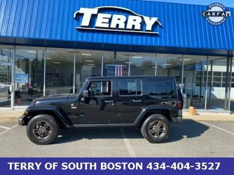 2017 Jeep Wrangler Unlimited for sale at Terry of South Boston in South Boston VA
