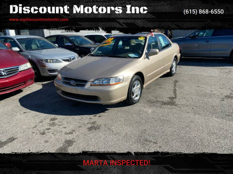 2000 Honda Accord for sale at Discount Motors Inc in Madison TN
