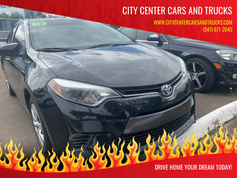 2016 Toyota Corolla for sale at City Center Cars and Trucks in Roseburg OR