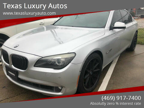 2009 BMW 7 Series for sale at Texas Luxury Auto in Cedar Hill TX