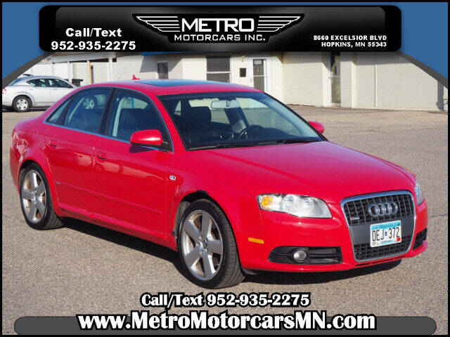 2008 Audi A4 for sale at Metro Motorcars Inc in Hopkins MN