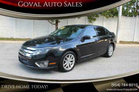 2011 Ford Fusion for sale at Goval Auto Sales in Pompano Beach FL