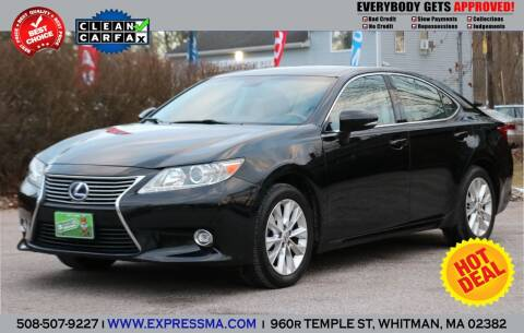 2014 Lexus ES 300h for sale at Auto Sales Express in Whitman MA