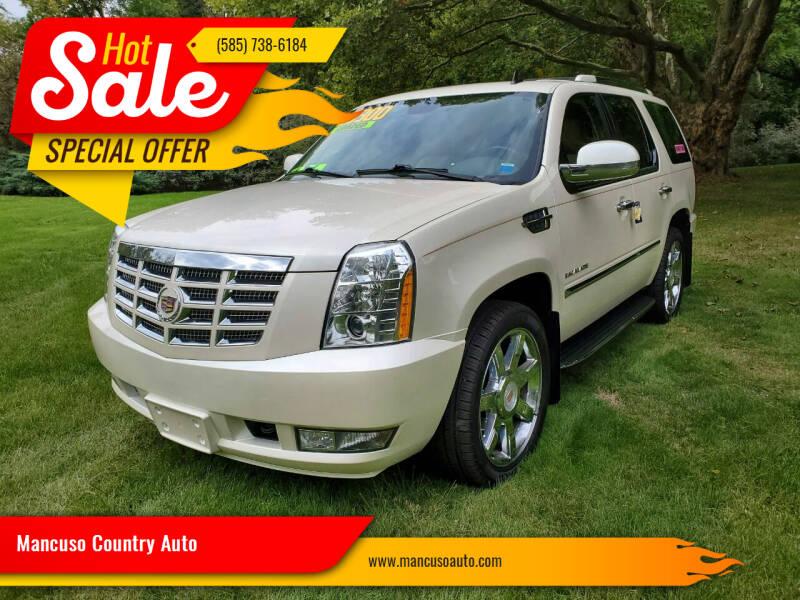 2012 Cadillac Escalade for sale at Mancuso Country Auto in Batavia NY