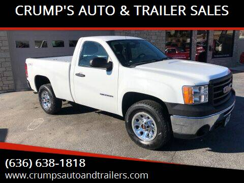 2012 GMC Sierra 1500 for sale at CRUMP'S AUTO & TRAILER SALES in Crystal City MO