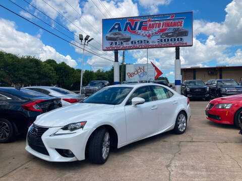 2016 Lexus IS 300 for sale at ANF AUTO FINANCE in Houston TX