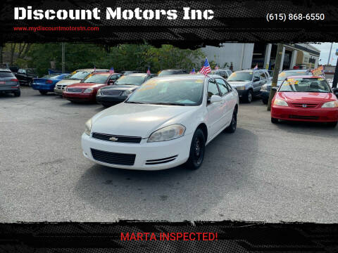 2006 Chevrolet Impala for sale at Discount Motors Inc in Madison TN