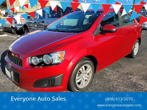 2012 Chevrolet Sonic for sale at Everyone Auto Sales in Santa Clara CA