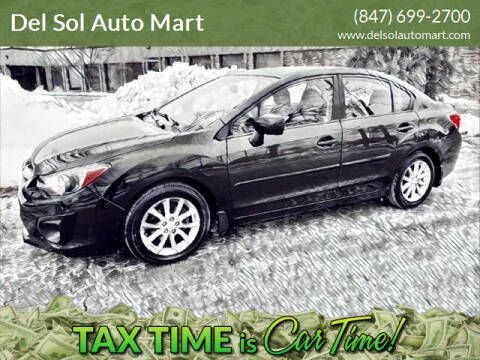 2014 Subaru Impreza for sale at Del Sol Auto Mart in Des Plaines IL