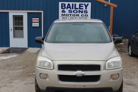 2008 Chevrolet Uplander for sale at Bailey & Sons Motor Co in Lyndon KS