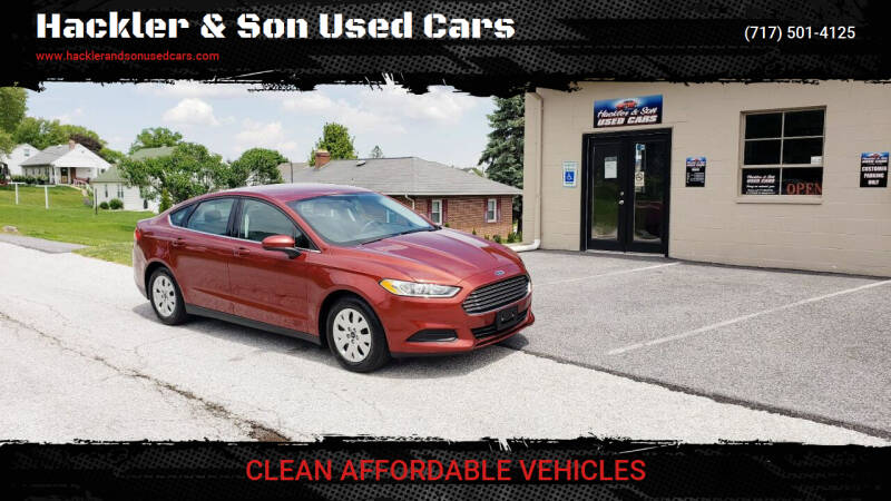 2014 Ford Fusion for sale at Hackler & Son Used Cars in Red Lion PA