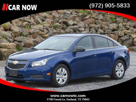 2012 Chevrolet Cruze for sale at Car Now Dallas in Dallas TX
