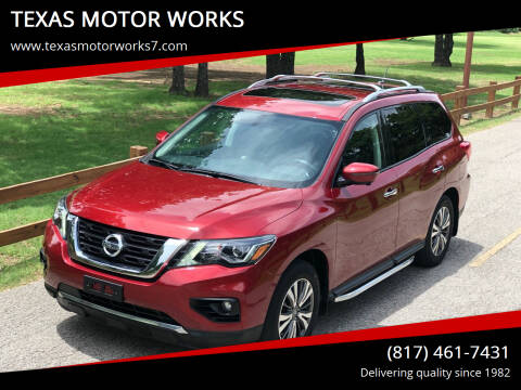 2017 Nissan Pathfinder for sale at TEXAS MOTOR WORKS in Arlington TX