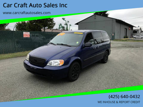 2005 Kia Sedona for sale at Car Craft Auto Sales Inc in Lynnwood WA
