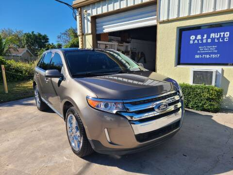 2012 Ford Edge for sale at O & J Auto Sales in Royal Palm Beach FL