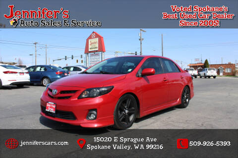 2013 Toyota Corolla for sale at Jennifer's Auto Sales in Spokane Valley WA