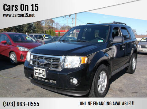 2010 Ford Escape for sale at Cars On 15 in Lake Hopatcong NJ