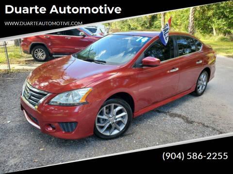 2014 Nissan Sentra for sale at Duarte Automotive in Jacksonville FL