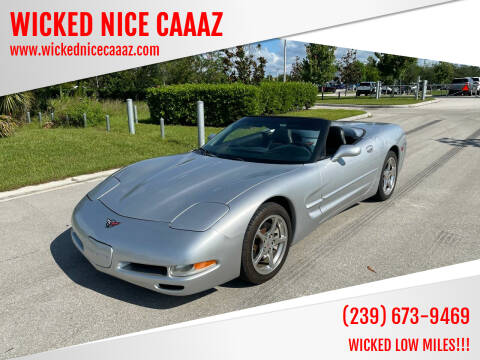 2002 Chevrolet Corvette for sale at WICKED NICE CAAAZ in Cape Coral FL