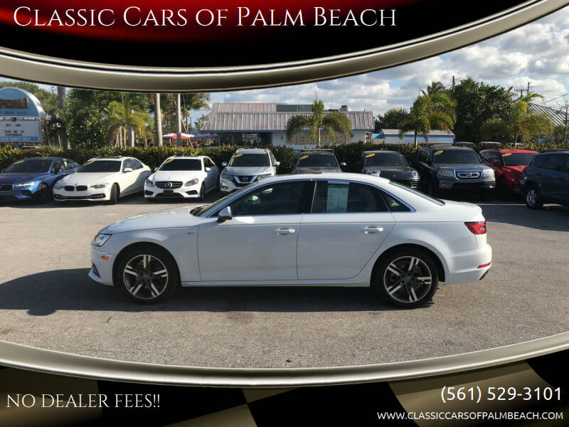 2018 Audi A4 for sale at Classic Cars of Palm Beach in Jupiter FL