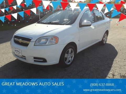 2009 Chevrolet Aveo for sale at GREAT MEADOWS AUTO SALES in Great Meadows NJ