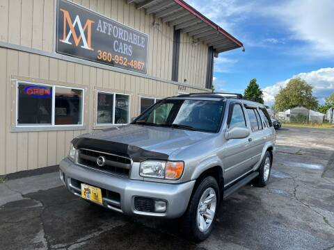 2002 Nissan Pathfinder for sale at M & A Affordable Cars in Vancouver WA
