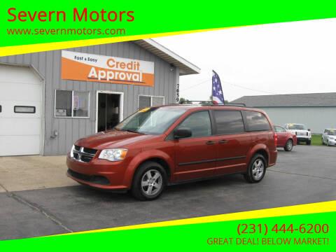2012 Dodge Grand Caravan for sale at Severn Motors in Cadillac MI