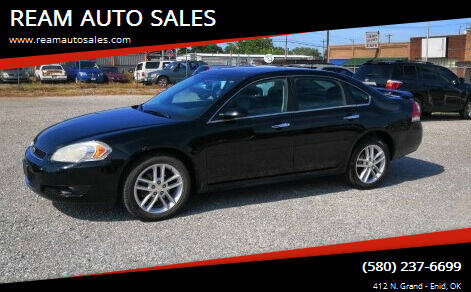 2012 Chevrolet Impala for sale at REAM AUTO SALES in Enid OK