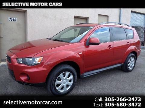 2012 Mitsubishi Outlander for sale at Selective Motor Cars in Miami FL
