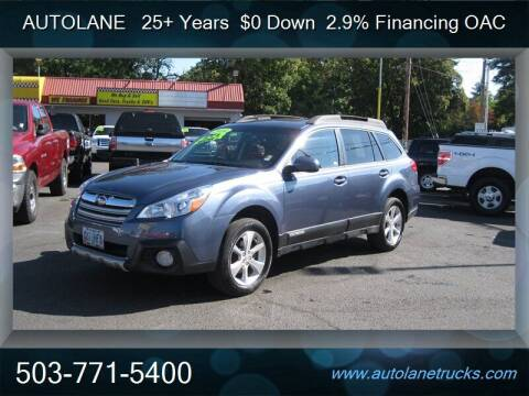 2014 Subaru Outback for sale at Auto Lane in Portland OR