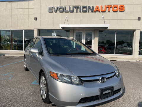 2007 Honda Civic for sale at Evolution Autos in Whiteland IN